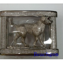 Chinese Zodiac Dog Sterling Silver Belt Buckle for Man