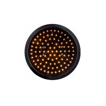 200mm 8 pulgadas LED de luz de tráfico amarillo óptico óptico ámbar