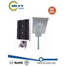 Солнечный уличный фонарь со светодиодами и панелью солнечных батарей