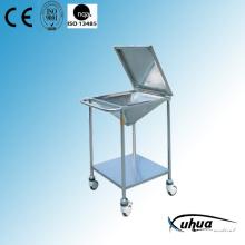 Chariot de nettoyage médical de l'hôpital en acier inoxydable pour hôpitaux (Q-19)