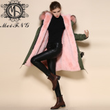 2015 hot selling popular raccoon fur coat wholesale