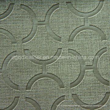 2014 popular estofos Semi-PU couro (QDL-US0004)