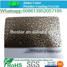 Metal spray electrostatic gold vein powder coating