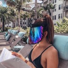 Rainbow visor uv protection sun visor hat