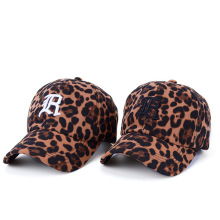 Leopard print hat lady embroidered baseball cap