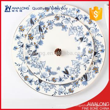 Placas de jantar a granel barato material de porcelana fina de osso pode ser personalizado de acordo com seu pedido