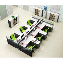 Station de travail droite design moderne avec 6 places (HF-YZQ520)