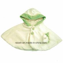 Baby und Säugling Winter Warm Coral Fleece Cloak Cape Mantel