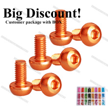 Anodized Colored M3 7075 Aluminum Button Head Socket Screws