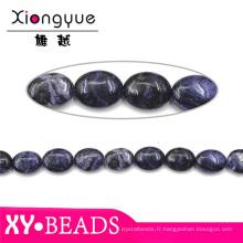 Pierres naturelles de qualité AAA Montana lisse ovale Agate et perles pour la fabrication de bijoux