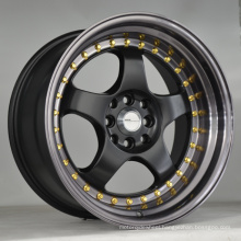 Aftermarket alloy wheel with black machine face UFO-LG31
