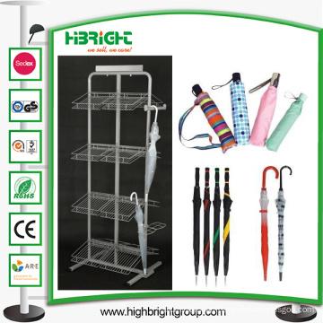 Metal Umbrella Display Stand Shelf Rack