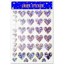 Heart shape laser sticker