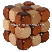 Magic Cube puzzle de madeira jogo