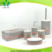 Черный и красный набор аксессуаров для ванной комнаты для оптовой продажи