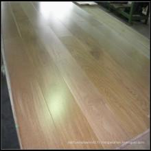 Plancher en bois machiné par chêne blanc naturel / plancher en bois