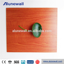 Chinese Manufacture wood finish aluminum composite panel cladding