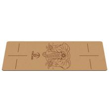 Yugland hot selling wholesale gymnastics custom printed logo fitness cork rubber yoga mat