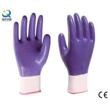 13G Nitrile Polyester Shell, Purple Nitrile Full Coated, Gants de Travail (N6043)