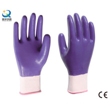 13G Nitrile Polyester Shell, Purple Nitrile Full Coated, Work Gloves (N6043)