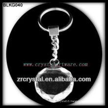 Heart blank crystal keychain
