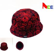 OEM impreso Bucket sombrero con su logotipo tejido de diseño de etiqueta (ACEK0013)