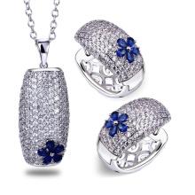 Venta caliente 925 anillo de plata esterlina y joyería colgantes conjunto