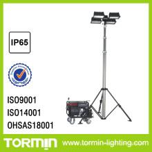 Torre de luz de generador portable