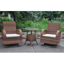 Outdoor Wicker Bistro Swivel Chair Móveis de Rattan