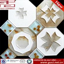 Azulejos de mosaico de vidrio de gran tamaño en acrílico para azulejos de cocina caseros