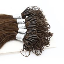 Hair for Wholesale Remy Weft Double Drawn Brazilian Human Virgin Knot Thread Hair Extensions100 Grams