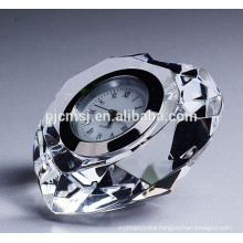 Heart Shape Crystal Diamond Clock For Wedding Centerpieces