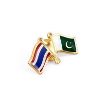 Pin de solapa de bandera nacional, insignias de metal (GZHY-LP-023)