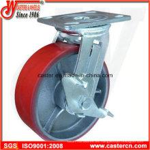 Molde de 4 pulgadas a 6 pulgadas en las ruedas giratorias del freno lateral de la PU
