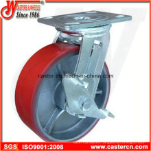 4 Inch to 6 Inch Mold on PU Side Brake Swivel Casters