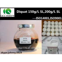 Agrochimie pesticide diquat 95% TC40% TK, 20% SL 15% SL (150 G / L) N ° CAS: 2764-72-9 Herbicide