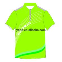 2017 personalizado dri fit camiseta de los hombres de polo en blanco al por mayor