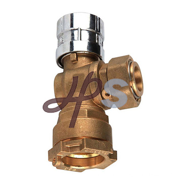 manually operated copper alloy ball valve for potable water supply in building