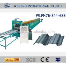 Máquina de formação de rolo de pavimento para chapa metálica de aço galvanizado ou aluzinc