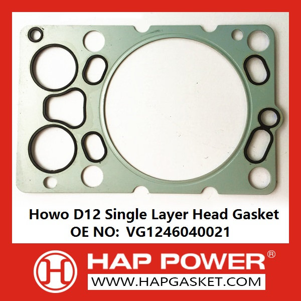 HAP-HD-024A Howo D12 Single LAYER Head Gasket VG1246040021-E234-121000812500--128