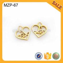 MZP67 # 5 novo preço por atacado decorativos metal zipper puller, vários zipper pull slider