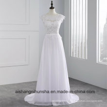 New Arrival Custom-Made Backless Wedding Dress Sleeveless Lace Wedding Gown