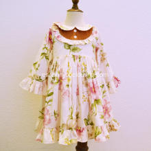 Vestidos de fiesta florales al por mayor de Autumn Baby Girls