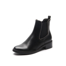 2019 Comfort Fashion Ladies Ankle Flat PU Leather Short Boots Women Chelsea Rivet Boots