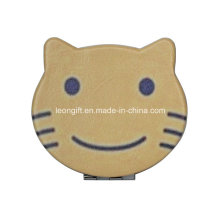 Wholesale Cute Cartoon Cat Leather Compact Mirror