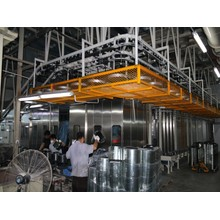 Household appliances paint spraying coating production line