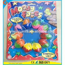 Hot Selling High Quality Novelty Design Moody Smile Face Stretch Ball Toy