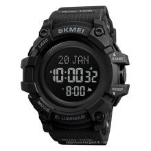 Skmei 1680 Man Japan Movement 5atm Waterproof Round Alloy luxury Wholesale Digital Sport Multi-function Azan watch