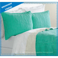 Grass Green Solid Polyester Ultrasonic Bedspread Set