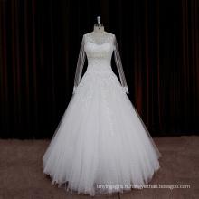 Exquise sangle perlée sexy robes de mariée longues